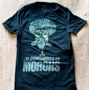 Squidward Nickelodeon Spongebob shirt with quote